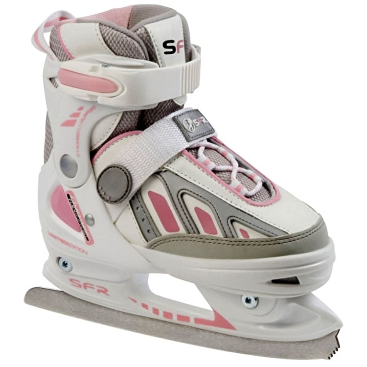 SFR Softboot Adjustable Ice Skates - Pink